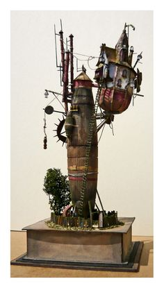Eszenyi Gabor-If you have a steampunk fairy in your garden.....this would make a great home.