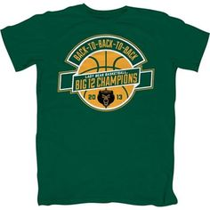 The Baylor Lady Bear Basketball team has won the Big 12 Conference Championship - again! Celebrate their amazing season in this short sleeve t-shirt with printed Back to Back to BackChampions graphics. Unisex.