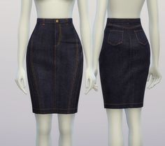 Rusty Nail: Denim skirt • Sims 4 Downloads