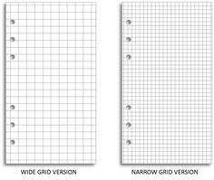 My Life All in One Place: New grid paper choices for your Filofax