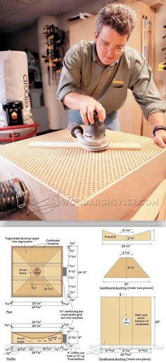 DIY Downdraft Sanding Table - Sanding Tips, Jigs and Techniques | WoodArchivist.com