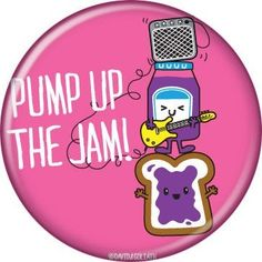 Button Pin Badge David and Goliath Pump Up The Jam