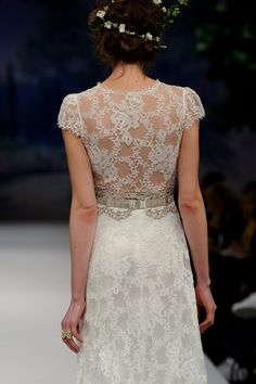 the details on this claire pettibone wedding dress are so romantic