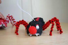 Egg Carton Spider Puppet