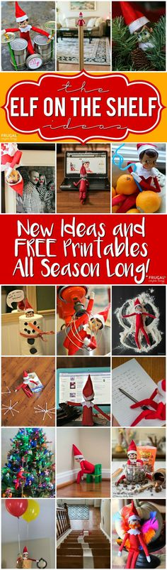 Funny Elf on the Shelf Ideas and FREE Elf on the Shelf Printables on Frugal Coupon Living. Elf Costumes, Elf Ideas, Elf Printables, and more.