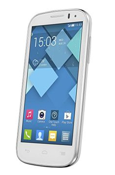"Alcatel Onetouch C5 Single SIM - Móvil libre de 4.5"" (Quad Core 1.3 GHz, 512 MB de RAM, 4 GB, Android Jelly Bean) color blanco"