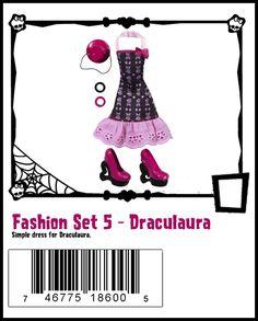 MH fashion pack fashion set 5 Draculaura