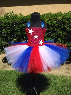 The Patriotic Tutu Dress- 4th of july, summer, red white & blue, photo shoot, photo prop on Etsy, $39.00
