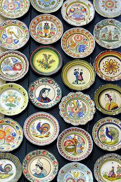 Quimper ~ Finistère ~ Brittany ~ France ~ Quimper Pottery ~ Plates of Quimper