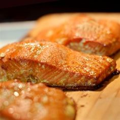 A simple soy sauce and brown sugar marinade, with hints of lemon and garlic, are the perfect salty-sweet complement to rich salmon fillets.