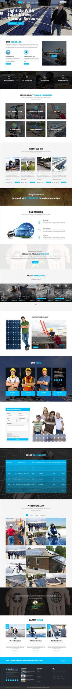EcoSolar is a wonderful 2in1 responsive #HTML #bootstrap template for environment, recycling, #solar and renewable energy company websites download now➩  https://themeforest.net/item/ecosolar-nonprofit-environment-recyling-solar-html5-template/19393499?ref=Datasata
