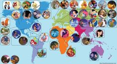 Map of Disney movies