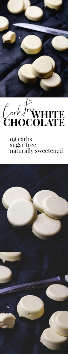 This homemade white chocolate is SO much better than store-bought. It's much cheaper and naturally sweetened without sugar so it has ZERO carbs. Perfect for recipes or just eating on its own! Sugar Free White Chocolate, Chocolate Fat Bombs, Low Carb Chocolate, Homemade Chocolate, Chocolate Fudge, Sugar Free Candy, Sugar Free Desserts, Low Carb Desserts, Fun Desserts