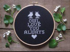 doityourself kit  owl love you always cross by ChezSucreChez, $15.50