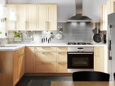 ikea birch kitchen | Maximize a small kitchen's efficiency by choosing storage solutions ...