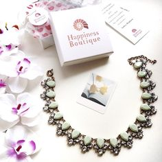 Delight Statement Necklace In Mint 28,90 € #happinessbtq
