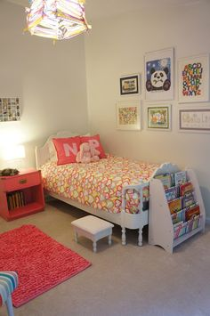 "Sweet and simple ""big girl"" room."