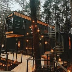 Building A Container Home, Container House Design, Tiny House Design, Container Home Plans, Container Buildings, Cottage Design, Shipping Container Homes Cost, Shipping Containers, Storage Container Homes