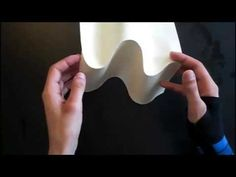 Tutorial 13 Pattern Miura Paper Sculpture Reversible - YouTube