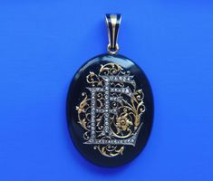 Diamond, onyx and gold medallion, belonging to Elisa Falize, wife to alexis Falize, circa 1860.