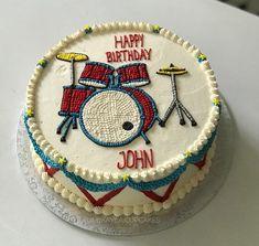 Drum buttercream cake