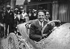 Italian racing sensation Giulio Masetti, winner of the 1921 and 1922 Targo Florio,  was a very successful and well dressed gentlemen racer In the early 1920s.  He and his co-driver are both wearing ties in this photo taken at the 1922 French Grand Prix!
