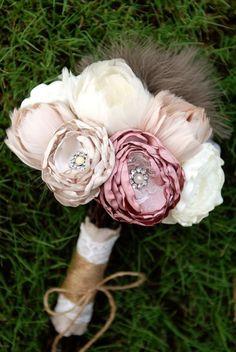 Aug15Our Favorite Fabric Bridal BouquetsOur Favorite Fabric Bridal Bouquets found on SocietyBride.com