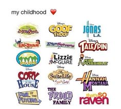 I didn't like Cory in the House... And I never saw Jonas LA or Bug juice, or goof troop...but the rest I watched and I loved them!!!