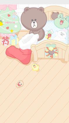 Lines Wallpaper, Soft Wallpaper, Kawaii Wallpaper, Wallpaper Iphone Cute, Cute Wallpapers, Cony Brown, Brown Bear, Wallpaper Fofos, New Toy Story
