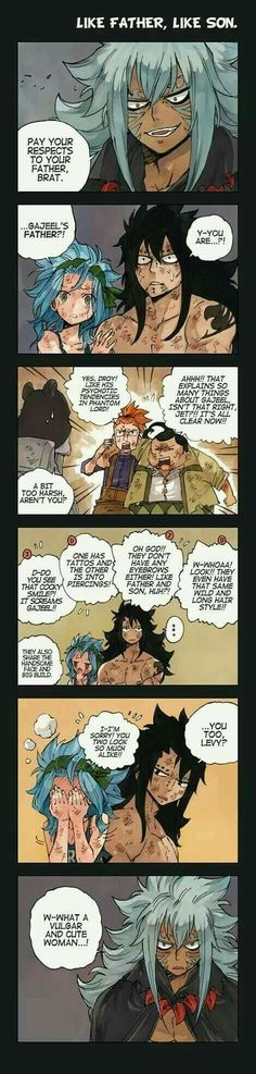 Father and Son, Fairy Tail Comic, What if Acnologia was Gajeel's Dad? Gale Fairy Tail, Fairy Tail Funny, Fairy Tail Guild, Fairy Tail Nalu, Fairy Tail Ships, Fairy Tales, Itachi, Naruto, Gajeel Et Levy