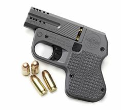DOUBLETAP TACTICAL POCKET PISTOL. This double-barreled firearm features a spot for spare rounds in the grip, a hammerless, no snag design, and your choice of .45 or 9mm compatibility.