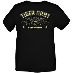 Tiger Army Psychobilly Bat Cat Slim-Fit T-Shirt | Hot Topic