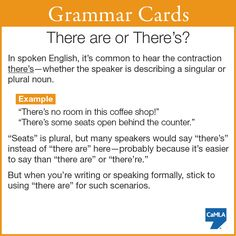 """Have you ever been confused by the use of """"there's"""" in written or spoken English?"""