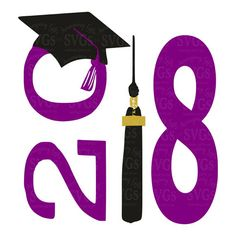 SVG - 2018 Graduation Cap and Tassel - Instant Download Awesome Graduation Design easily used for Signs, Decals, Tshirts, Party Decor and so much more. This color in the design is easily changed out to match your need.  More Graduation SVGs : http://etsy.me/2r6gqx3  This Listing includes: 1 SVG, 1 EPS, 1 DXF & 1 PNG  For use with Cricut Explore and Silhouette cutting machines  With this purchase, you will receive a Zip File folder containing these images in SVG, DXF & P...