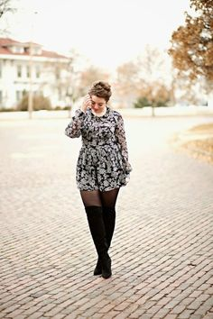 Curvy Outfits, Plus Size Outfits, Fall Outfits, Fashion Outfits, Womens Fashion, Outfit Winter, Floral Outfits, Fashion 2015, Fashion Ideas