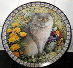 Plato con diseño de gato.