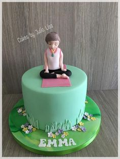 Yoga themed birthday cake - Cake by Cakes by Julia Lisa