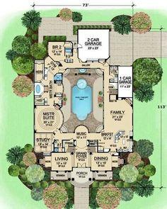Centered Courtyard