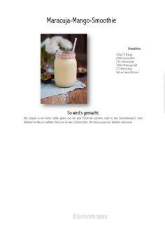 Maracuja Mango Smoothie - Passion Fruit Mango Smoothie | Das Knusperstübchen
