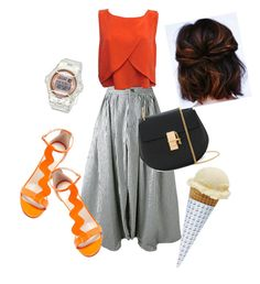"""""""an orange saturday! 😎"""" by lindacorp on Polyvore featuring Rebecca Minkoff, Camilla Elphick and Chloé"""
