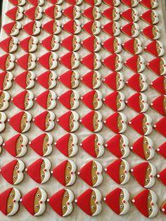 santa cookies using heart cookie cutter
