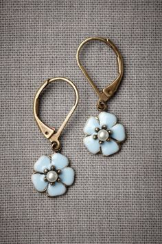 Bachelor's Button Earrings by BHLDN