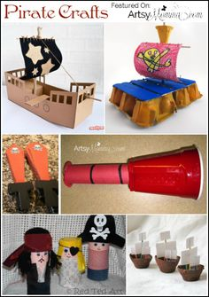 Talk Like a Pirate Day Recycled Crafts