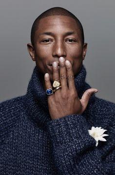 Pharrell Williams on the Cover of Harper's Bazaar Man September issue 2015