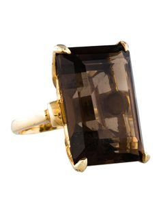 39.43 Smoky Quartz Statement Ring