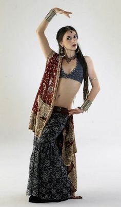 April Rose in Indian-inspired tribal costume.