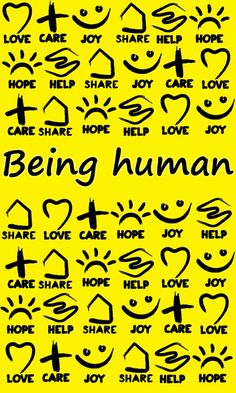 Being Human Clothing  Love, care, share, help, hope, joy