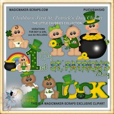 Chubbies First St. Patrick's Day Clipart