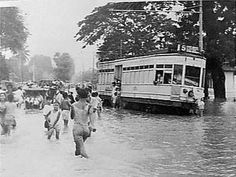 Flood in Jakarta 1949, I guess this was beacuse of the Ciliwung river it received supplies from Bogor. The Governor of Jakarta, Mr Basuki Tjahaja Purnama or Ahok has done a great deal to,revitalize the river and moving those who lives in the river bank. The result....less flood starting this year in 2016
