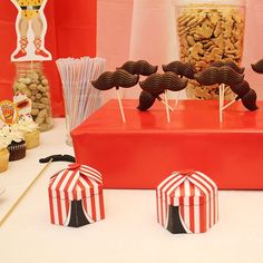 printable circus tent boxes & chocolate moustaches!